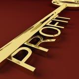 Salário de representação chave do mercado e do comércio do lucro Foto de Stock Royalty Free