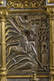 Salário ortodoxo velho do metal do ícone Imagem de Stock Royalty Free