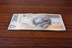 Salário polonês do dinheiro Imagens de Stock Royalty Free