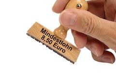 Salários mínimos em Alemanha Imagem de Stock
