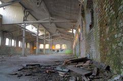 Salão arruinado da fábrica Foto de Stock