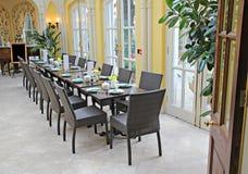 Salão banqueting luxuoso foto de stock royalty free