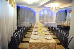 Salão barato do banquete do orçamento pequeno Imagens de Stock