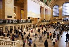 Salão central grande do bilhete do estação de caminhos-de-ferro Imagens de Stock