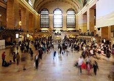 Salão central grande do bilhete do estação de caminhos-de-ferro Fotografia de Stock Royalty Free
