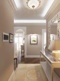 Salão clássico e luxuoso elegante Fotografia de Stock