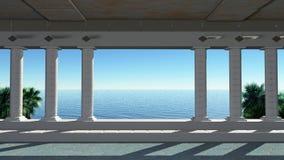 Salão com colunas Imagem de Stock