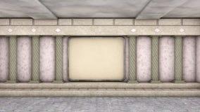 Salão com colunas Fotografia de Stock Royalty Free