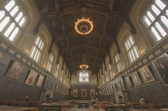 salão comum de hutchinson na Universidade de Chicago Illinois Fotografia de Stock Royalty Free