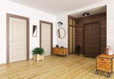 Salão 3d interior rende Fotografia de Stock