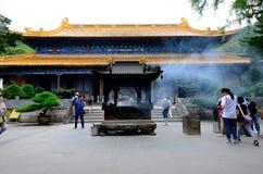 Salão da audiência do templo de FaYu imagens de stock