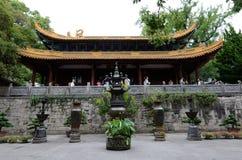 Salão da audiência do templo de FaYu foto de stock