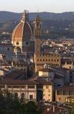 Salão da catedral e de cidade de Florença fotografia de stock