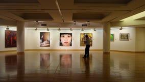 Salão da galeria de arte Foto de Stock Royalty Free