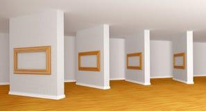 Salão da galeria vazia Imagem de Stock