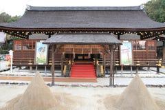 Salão da oração do santuário de Kamigamo em Kyoto imagens de stock royalty free