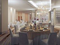 Salão de baile, salão do banquete no restaurante Fotografia de Stock Royalty Free