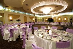 Salão de baile Wedding ou de banquete Foto de Stock Royalty Free