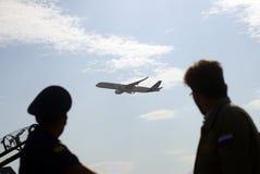 Salão de beleza aeroespacial internacional de MAKS Airbus A350 Foto de Stock