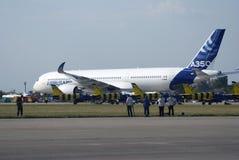 Salão de beleza aeroespacial internacional de MAKS Airbus A350 Fotografia de Stock Royalty Free