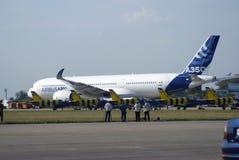 Salão de beleza aeroespacial internacional de MAKS Airbus A350 Fotos de Stock
