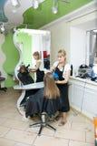 Salão de beleza de cabelo fotos de stock