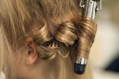 Salão de beleza do cabelo foto de stock