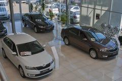 Salão de beleza do carro de Skoda Fotografia de Stock