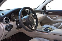 Salão de beleza do carro, negócio da classe no fundo isolado branco fotografia de stock royalty free