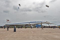Salão de beleza internacional MAKS da aviação e do espaço em Zhukovsky, Rússia Fotografia de Stock Royalty Free