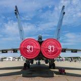 Salão de beleza internacional MAKS da aviação e do espaço em Zhukovsky, Rússia Imagem de Stock Royalty Free