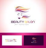 Salão de beleza Logo Design ilustração royalty free