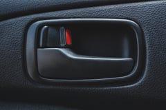 Salão de beleza de um carro, partes do couro e plástico imagem de stock royalty free