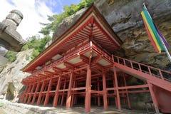 Salão de Bisyamon da caverna de Takkou em Hiraizumi imagem de stock royalty free
