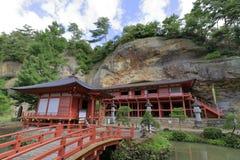 Salão de Bisyamon da caverna de Takkou em Hiraizumi fotografia de stock royalty free