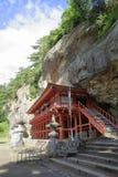 Salão de Bisyamon da caverna de Takkou em Hiraizumi foto de stock
