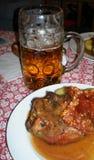 Salão de cerveja em Munich fotografia de stock royalty free