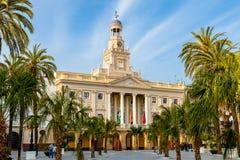Salão de cidade de Cadiz, Spain Foto de Stock Royalty Free