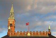 Salão de cidade de Copenhaga Imagem de Stock