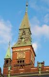 Salão de cidade de Copenhaga Fotos de Stock Royalty Free