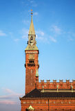 Salão de cidade de Copenhaga Foto de Stock