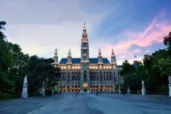 Salão de cidade de Viena Fotografia de Stock Royalty Free