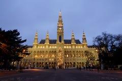 Salão de cidade em Viena fotografia de stock
