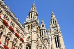 Salão de cidade em Viena fotografia de stock royalty free