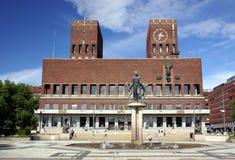 Salão de cidade Oslo Imagem de Stock Royalty Free