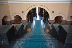 Salão de entrada de Matenadaran, Yerevan, Armênia Fotos de Stock Royalty Free