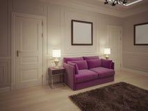 Salão de entrada no estilo clássico Fotografia de Stock Royalty Free