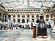 Salão de exposição de Moscou Gostiny Dvor interno imagem de stock royalty free
