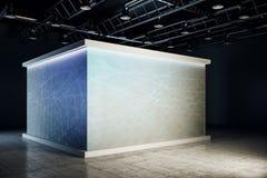 Salão de exposição novo com projeção ilustração royalty free