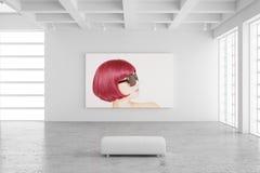 Salão de exposição vazio com imagem Foto de Stock Royalty Free